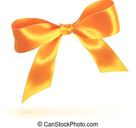 Orange isolated bow on white background