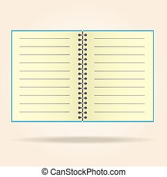 Blank legal pad. notebook yellowVector.