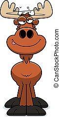 Drunk Cartoon Moose - A cartoon illustration of a moose...