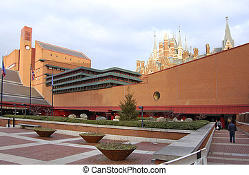 London-18-0094 - The British Library building at Kings Cross...