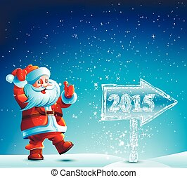 Santa Claus walks in 2015 - Santa Claus walks 2015 in the...