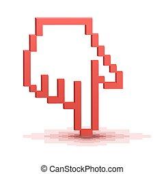 Pixel cursor hand pointer