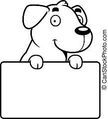 Cartoon Labrador Sign - A cartoon illustration of a Labrador...