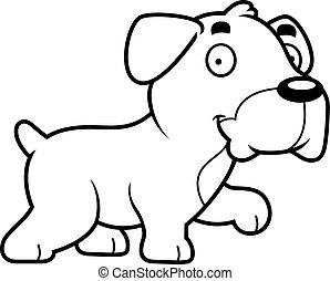 Cartoon Boxer Walking - A cartoon illustration of a Boxer...