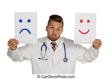 cry or laugh - a doctor can not decide whether he should...