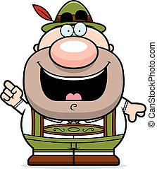 Cartoon Lederhosen Man Idea - A cartoon illustration of a...