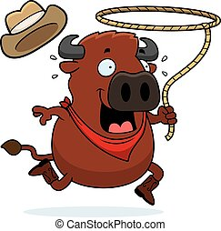 Cartoon Buffalo Rodeo
