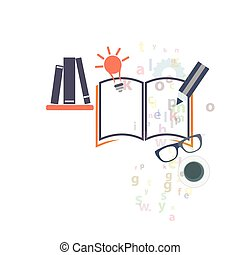 Educational graphic icons - Educational study graphic icons...