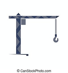 Turret slewing crane icon - Vector illustration of Turret...