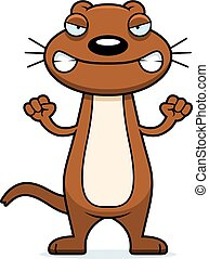 Angry Cartoon Weasel - A cartoon illustration of a weasel...