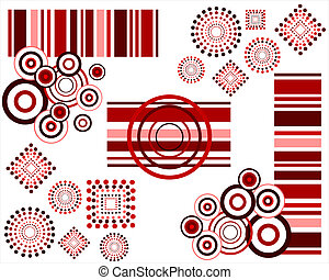 grafic elements - vector illustration of an abstract retro...