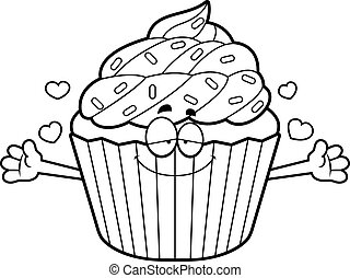 Cartoon Cupcake Hug