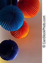 colorido, fiesta, decoraciones,