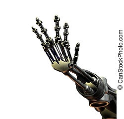 Robot Hand - An outreaching hand from a futuristic android.