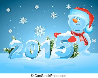 Funny snowman greeting 2015