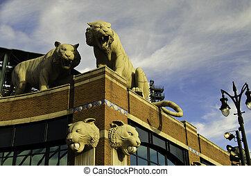 Comerica stadium - A view of the Comerica stadium in Detroit