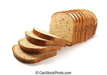 Loaf of bread - Loaf of sliced bread isolated on a white...