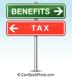 benefits and tax directional signs