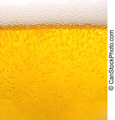 Cool beer - Close up of a cold glass of beer