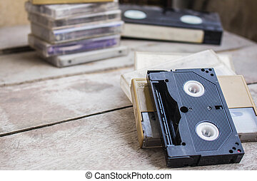 Old black tape