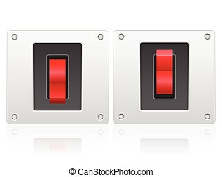 switch - Electric switch on a white background.