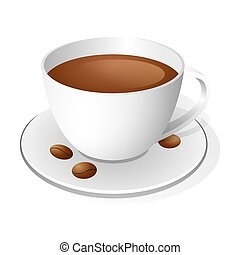 Coffee cup isolated on white