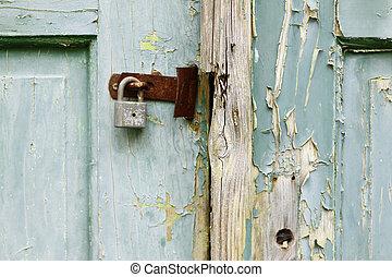 unlocked - Detail of the broken lock and door - unlocked