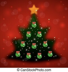Christmas tree with background
