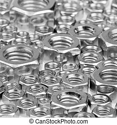 Hex nuts background - Assorted hex nuts background,...