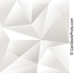 Vector Abstract White Triangle Background