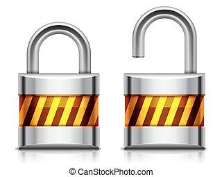 Security padlock.
