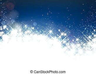 Winter starry christmas background - Shiny starry christmas...