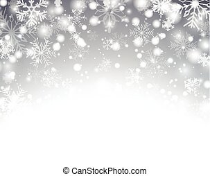 Christmas silver abstract background - Silver winter...