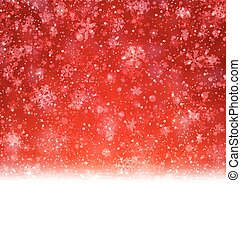 Christmas red abstract background - Red winter abstract...
