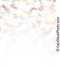 Silver shiny christmas background. - Silver shiny defocused...