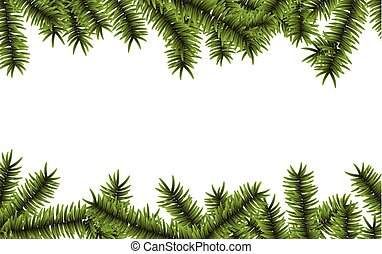 Christmas background with spruce branches. - Winter abstract...