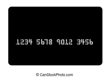 Bank card - Black bank card on white background Useful in...