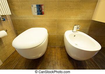 lavabo, y, bidé,