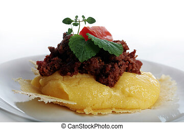 Polenta with ground beef - healthy meals for everybody