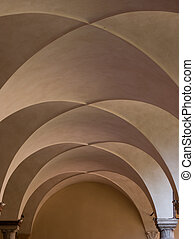 Double barrel vault in Basilica of San Francesco, Ravenna....