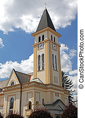 Evangelist church at town Ruzomberok, Slovakia - Evangelist...