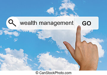 wealth management on search toolbar