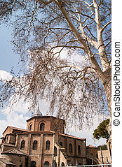 Sight of Basilica di San Vitale, Ravenna Italy