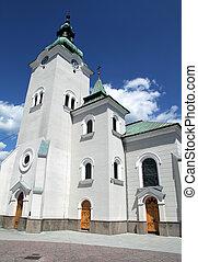 Roman catholic church at town Ruzomberok, Slovakia - Roman...