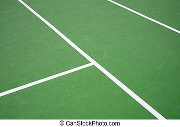 green tennis court sport background