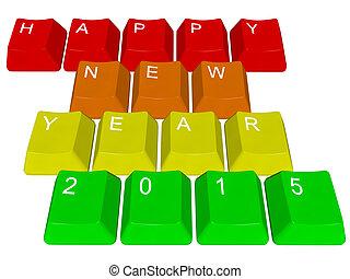 Happy new year 2015 - pc keys