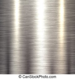 Steel metal background polished metallic plate texture.