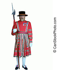 Swiss Guard wax figure taken at Niagara Falls...