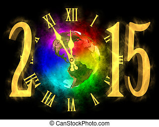 Happy new year 2015 - America