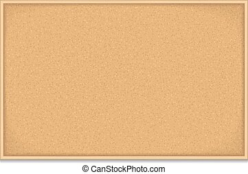 Bulletin Board - Empty bulletin board on white background,...